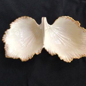 Lenox double dish with handle